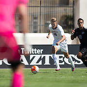 11 September 2016: The #13/9 San Diego State Aztecs men's soccer team hosts Memphis in the Courtyard Marriott San Diego Central Tournament at SDSU Sports Deck. The Aztecs beat the Tigers 2-0 to remain undefeated on the season.