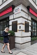 London, England, UK, February 5 2018 - Novikov restaurant in the Mayfair area, owned by Russian entrepreneur Arkady Novikov .