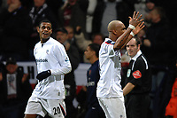Photo: Paul Greenwood.<br />Bolton Wanderers v Arsenal. The FA Cup. 14/02/2007. Bolton's Ricardo Vaz Te, left, and  El Hadji Diouf celebrate