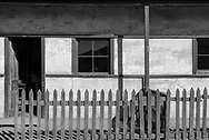 An old abandoned building in Humberton Chile. Black and White.