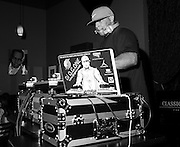 DJ O.G. One spinning on the 1's and 2's at Jimmy Maks