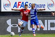 ALKMAAR - 01-05-2016, AZ - de Graafschap, AFAS Stadion, 4-1, AZ speler Alireza Jahanbakhsh, De Graafschap speler Andrew Driver.