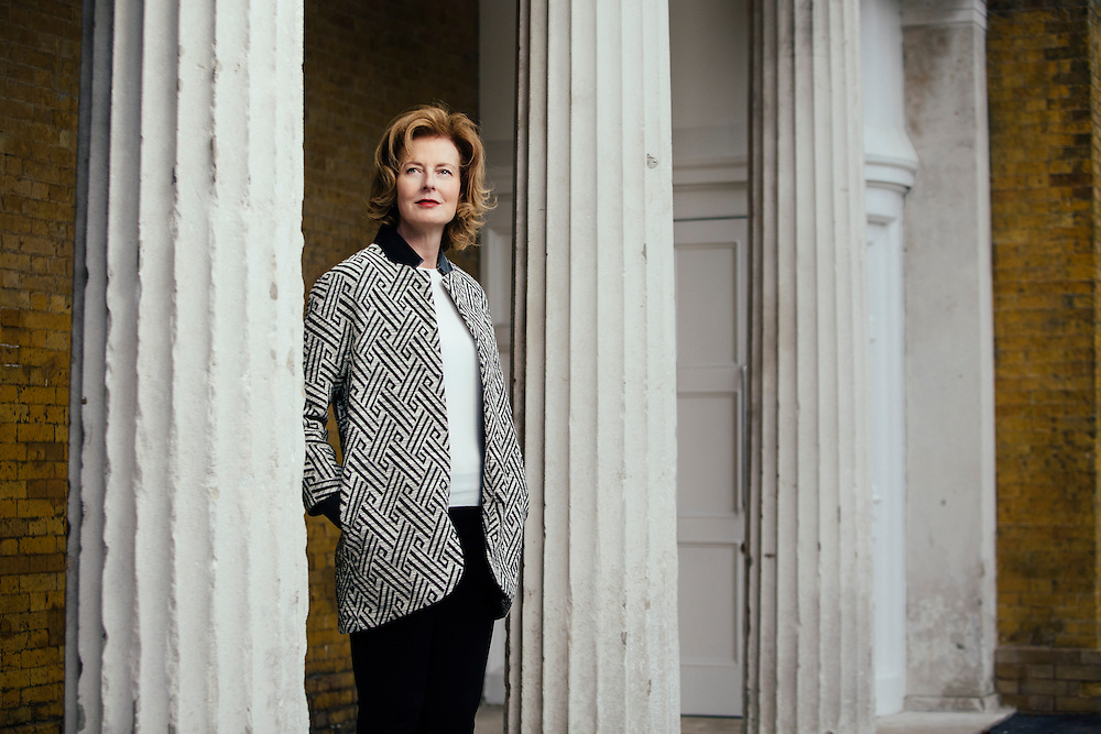Julia Peyton Jones photographed at the Sepentine Gallery for the Financial Times, London, 11th September 2013. Photo by Greg Funnell.