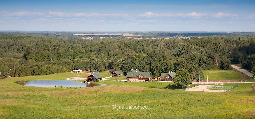 Aerial View from Meremäe Watchtower, Setomaa Tourist Farmstead, Võru County, Estonia, Europe