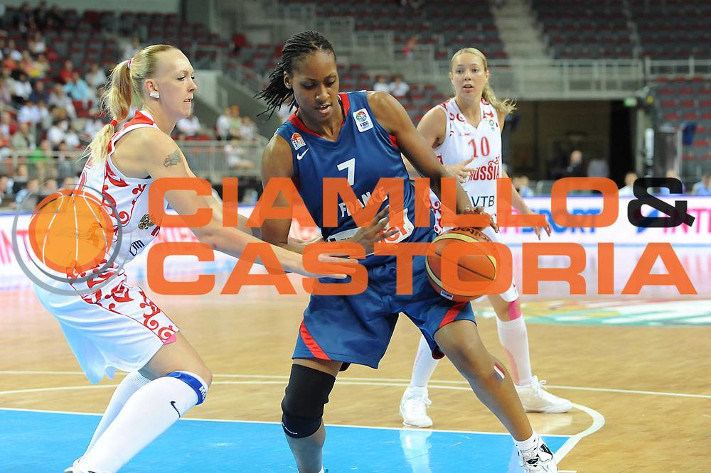 DESCRIZIONE : Riga Latvia Lettonia Eurobasket Women 2009 Final Russia Francia Russia France<br /> GIOCATORE : Sandrine Gruda<br /> SQUADRA : Francia France<br /> EVENTO : Eurobasket Women 2009 Campionati Europei Donne 2009 <br /> GARA : Russia Francia Russia France<br /> DATA : 20/06/2009 <br /> CATEGORIA : palleggio penetrazione<br /> SPORT : Pallacanestro <br /> AUTORE : Agenzia Ciamillo-Castoria/M.Marchi<br /> Galleria : Eurobasket Women 2009 <br /> Fotonotizia : Riga Latvia Lettonia Eurobasket Women 2009 Final Russia Francia Russia France<br /> Predefinita :