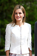 Queen Letizia of Spain, Jesus Posada and Pio Garcia-Escuero attend the 'Luis Carandell' journalism awards ceremony at the Senate building on September 15, 2014 in Madrid, Spain.<br />