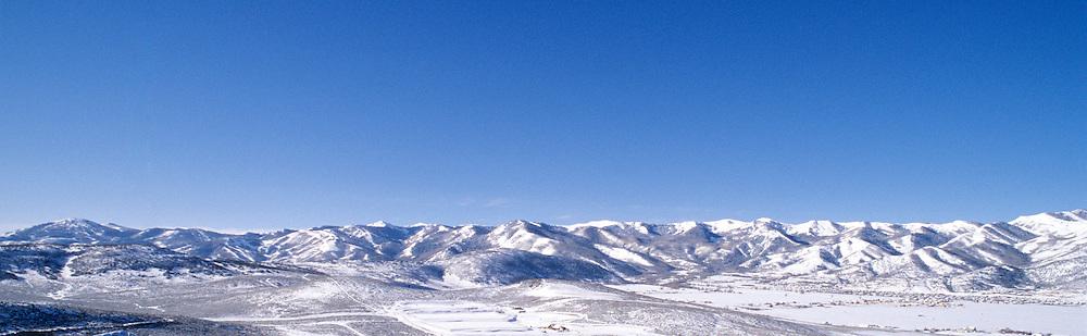 winter scenic of all 3 Park City UT, USA ski resorts