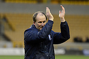 Preston North End manager Simon Grayson claps the fans during the Sky Bet Championship match between Wolverhampton Wanderers and Preston North End at Molineux, Wolverhampton, England on 13 February 2016. Photo by Alan Franklin.