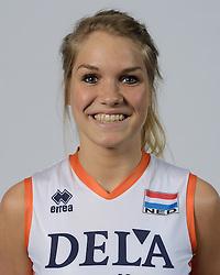 21-05-2014 NED: Selectie Nederlands volleybal team vrouwen, Arnhem<br /> Op Papendal werd het Nederlands team volleybal seizoen 2014-2015 gepresenteerd / Kirsten Knip