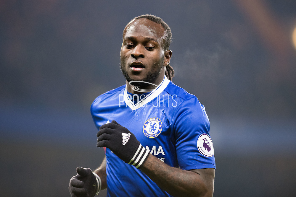 Chelsea forward Victor Moses (15) during the Premier League match between Chelsea and Hull City at Stamford Bridge, London, England on 22 January 2017. Photo by Sebastian Frej.