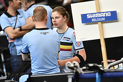 March 2, 2018 - Apeldoorn, NETHERLANDS - Belgian Lotte Kopecky pictured during the omnium women event at the 2018 world championships track cycling in Apeldoorn, the Netherlands, Friday 02 March 2018. The track cycling worlds take place from 28 February to 04 March. BELGA PHOTO YORICK JANSENS (Credit Image: © Yorick Jansens/Belga via ZUMA Press)
