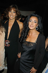 Left to right, DONNA KARAN and NANCY DELL'OLIO at a party to celebrate the first 20 years of fashion label Donna Karan held at her store at 19/20 New Bond Street, London W1 on 21st September 2004.<br /><br />NON EXCLUSIVE - WORLD RIGHTS