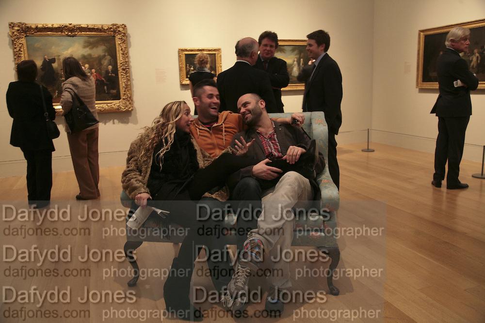 Amelia Troubridge, Jorge Mondero and James Collard, Hogarth private view and dinner. Tate Britain. London. 5 February 2007.  -DO NOT ARCHIVE-© Copyright Photograph by Dafydd Jones. 248 Clapham Rd. London SW9 0PZ. Tel 0207 820 0771. www.dafjones.com.