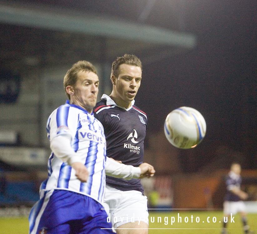 James Fowler  and Gavin Rae - Kilmarnock v Dundee, William Hill Scottish Cup 4th Round Replay - at Rugby Park - ..© David Young - .5 Foundry Place - .Monifieth - .Angus - .DD5 4BB - .Tel: 07765 252616 - .email: davidyoungphoto@gmail.com.web: www.davidyoungphoto.co.uk