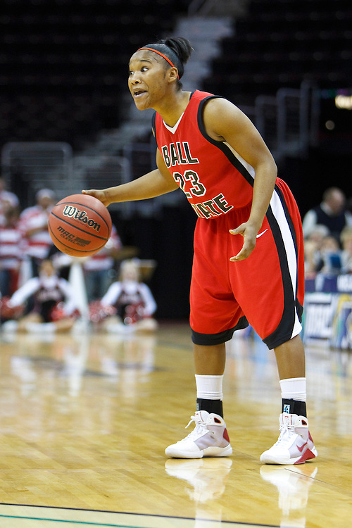 13 March 2010:   Ball State's Patrice King (23) during the MAC Tournament game basketball game between Ball State and Toledo and  at Quicken Loans Arena in Cleveland, Ohio.