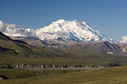 Mt. McKinley (Denali), from Thorofare Pass, Denali National Park, Alaska. Digital original  ©Robin Brandt #2007_2575