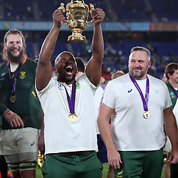 Mzwandile Stick (Backs Coach) of South Africa during the Rugby World Cup Final match between South Africa Springboks and England Rugby World Cup Final at the International Stadium Yokohama  Japan.Saturday 02 November 2019. (Mandatory Byline -Steve Haag Sports Hollywoodbets)