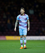 3rd November 2018, Fir Park, Motherwell, Scotland; Ladbrokes Premiership football, Motherwell versus Dundee; Martin Woods of Dundee