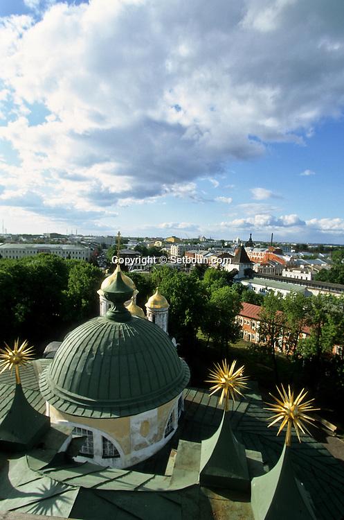 view from the bell tower on Volga river and okotorov river in Iaroslav  Iaroslav  Russia     /// Vue du clocher sur le confluent de la Volga et la rivière Okotorov  Iaroslav  Urss   ///     L0007098  /  R20203  /  P108061