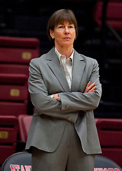 December 15, 2009; Stanford, CA, USA;  Stanford Cardinal Cardinal head coach Tara VanDerveer before the game against the Duke Blue Devils at Maples Pavilion.