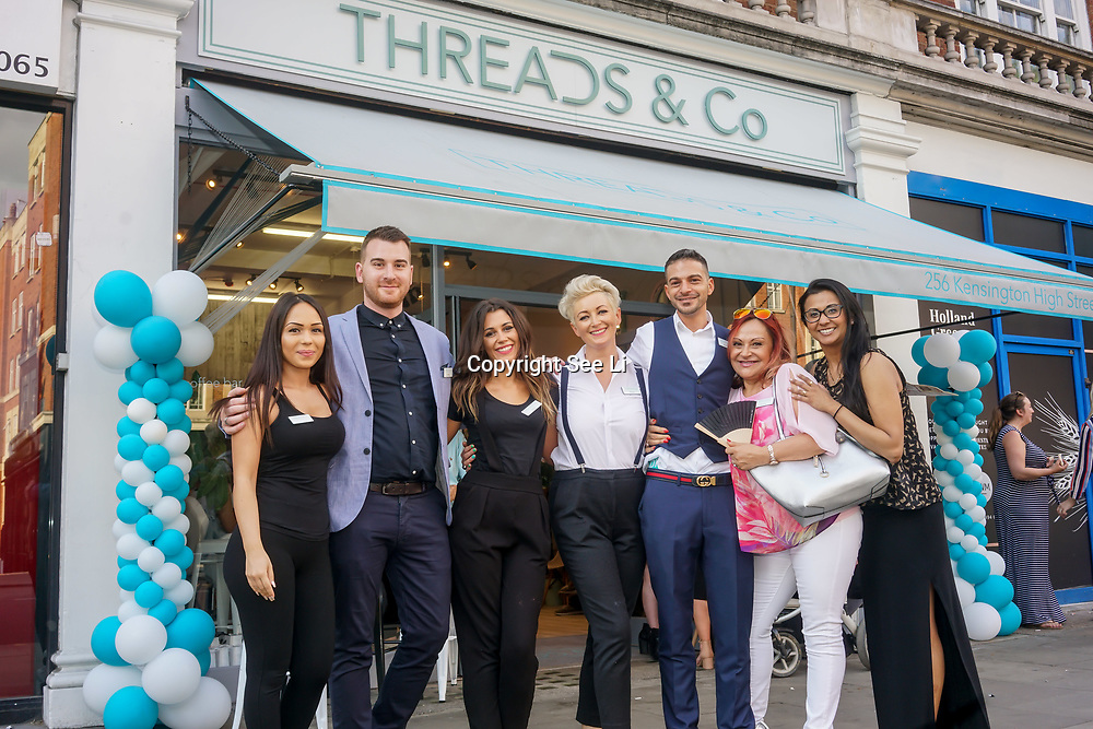 The teams of the Threads & Co Beauty launches permanent retail concept store everything from coffee to beauty to retail therapy on 24th May 2017. by See Li