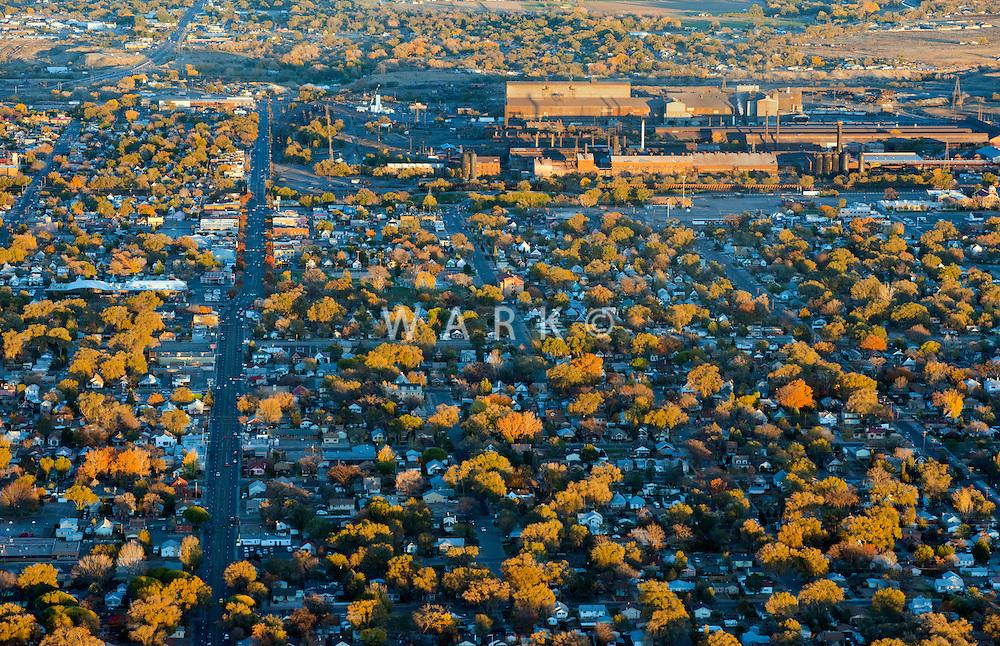 Northern Ave, Pueblo, Colorado.  Bessemer area, with Evraz steel mill.  Oct 2012