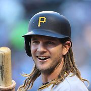NEW YORK, NEW YORK - June 14: John Jaso #28 of the Pittsburgh Pirates preparing to bat during the Pittsburgh Pirates Vs New York Mets regular season MLB game at Citi Field on June 14, 2016 in New York City. (Photo by Tim Clayton/Corbis via Getty Images)