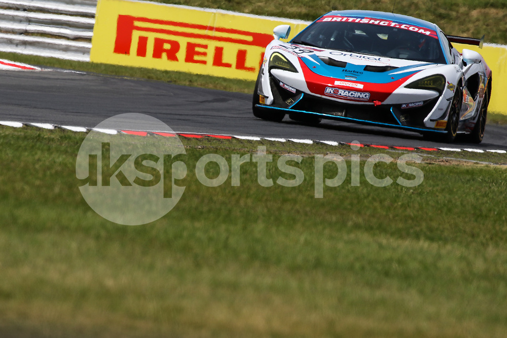 In2Racing McLaren 570S GT4 with drivers Marcus Hoggarth & Matthew Graham during the British GT And BRDC British F3 Championships at the Snetterton Circuit, Norwich, England on 28 May 2017. Photo by Jurek Biegus.