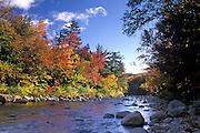 Image of the Swift River near Kancamagus Highway in the fall, New Hampshire, American Northeast