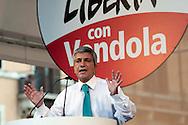 Roma 1 Ottobre 2011.Ora tocca a noi.Manifestazione nazionale di Sinistra, Ecologia, Libertà, a Piazza Navona..L'intervento di Nichi Vendola.