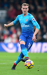Rob Holding of Arsenal - Mandatory by-line: Alex James/JMP - 14/01/2018 - FOOTBALL - Vitality Stadium - Bournemouth, England - Bournemouth v Arsenal - Premier League
