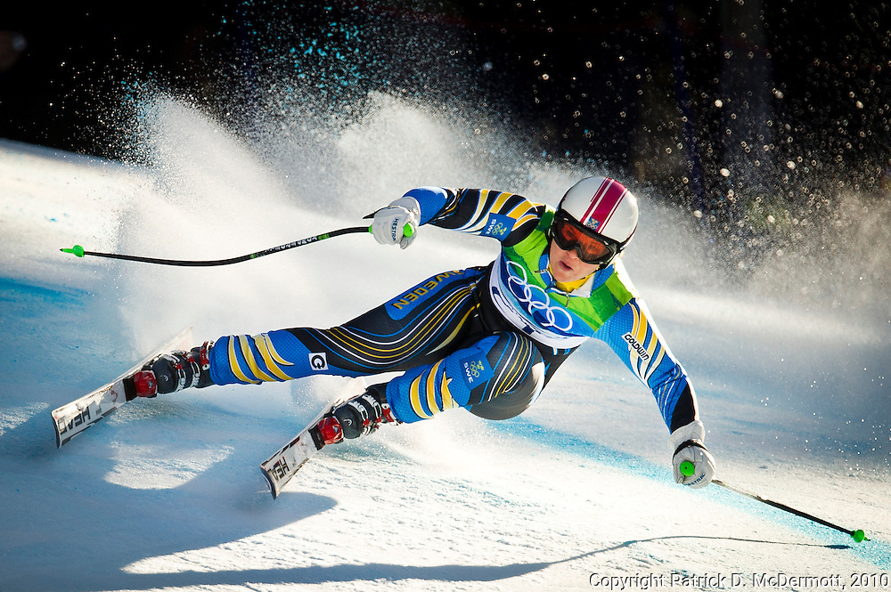 Anja Paerson of Sweden competes in the Women's Super G during the 2010 Vancouver Winter Olympics in Whistler, British Columbia, Saturday, Feb. 20, 2010.