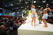 "Annual ispo summer (and winter) are the world's largest tradeshows for sporting goods, sports fashion and lifestyle..Hall A2, beachwear, sportswear, textrends_ispo, ispo_BrandNew. Beachwear/Sportswear Fashion Show. ""Trespass"" collection."