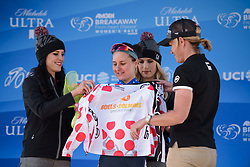 Megan Guarnier is the leader of the mountains competition at Amgen Breakaway from Heart Disease Women's Race empowered with SRAM (Tour of California) - Stage 1. A 117km road race around Lake Tahoe, USA on 11th May 2017.