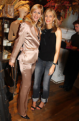 Left to right, TANIA BRYER and KIM HERSOV at Polo Ralph Lauren's Pink Pony Party to launch it's Pink Pony Collection in aid of Cancer Research UK, held at their Fulham Road Store, London on 13th October 2004.<br />