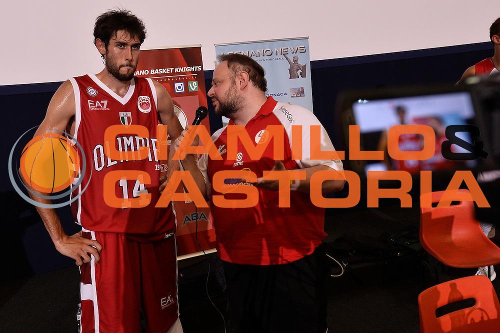 Davide Pascolo <br /> EA7 Emporio Armani Olimpia Milano - Legnano Knights <br /> Lega Basket Serie A 2016/2017<br /> Bormio 28/08/2016<br /> Foto Ciamillo-Castoria