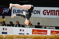 Tara Donnelly - Poutre - 15.04.2015 - Qualifications - Championnats d'Europe Gymnastique artistique - Montpellier<br />