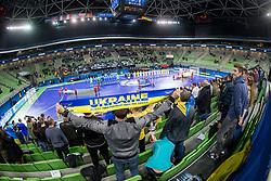 Arena Stozice during futsal quarterfinal match between National teams of Ukraine and Spain at Day 8 of UEFA Futsal EURO 2018, on February 6, 2018 in Arena Stozice, Ljubljana, Slovenia. Photo by Urban Urbanc / Sportida