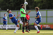 Forest Green Rovers Reuben Reid(26) heads the ball during the Pre-Season Friendly match between Forest Green Rovers and Leeds United at the New Lawn, Forest Green, United Kingdom on 17 July 2018. Picture by Shane Healey.