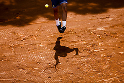 April 25, 2018 - Barcelona, Spain - Jaume MUNAR from Spain during the Barcelona Open Banc Sabadell 66º Trofeo Conde de Godo at Reial Club Tenis Barcelona on 25 of April of 2018 in Barcelona. (Credit Image: © Xavier Bonilla/NurPhoto via ZUMA Press)