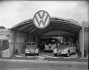 05/05/1959.05/05/1959.05 May 1959.Volkswagen and Mercedes stands at the R.D.S. Spring Show.