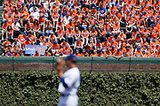 CHICAGO, IL - MAY 18: New York Mets fans invade the bleachers in center field during the game against the Chicago Cubs on May 18, 2013 at Wrigley Field in Chicago, Illinois. The Cubs won 8-2. (Photo by Joe Robbins)