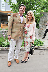 NICK KNOWLES and his fiance JESSICA ROSE MOOR at the 2012 RHS Chelsea Flower Show held at Royal Hospital Chelsea, London on 21st May 2012.