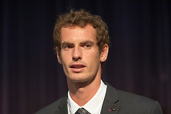 Andy Murray received the Freedom of Stirling from Stirling Council, who have recognised the Wimbledon champion's sporting achievements at a special council meeting at Dunblane High School.<br /> © Michael Schofield.
