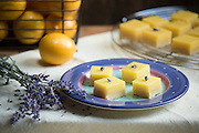 Meyer Lemon Lavender Squares by Rodney Bedsole, a food photographer based in Nashville and New York City.