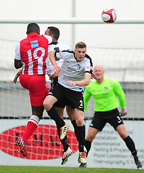 CONNOR KENNEDY CORBY TOWN HOLDS OF ROMULAS ATTACK, Corby Town v Romulus Steel Park, Corby Evo-Stik Northern Premier Division One South Saturday 12th August 2017