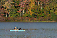 Kayaking on Lake Jean, Ricketts Glen Pennsylvania