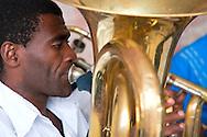 Musician in Cueto, Holguin, Cuba.