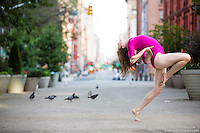 Streets of New York City Dance As Art Photography Project in Tribeca featuring dancer Kathryn Mulcahey