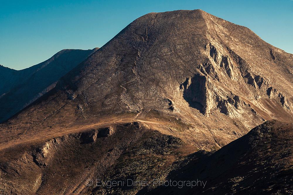 Marble mountain range with white peaks